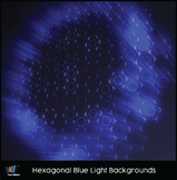 16 Hi-Res Hexagonal Blue Light Backgrounds