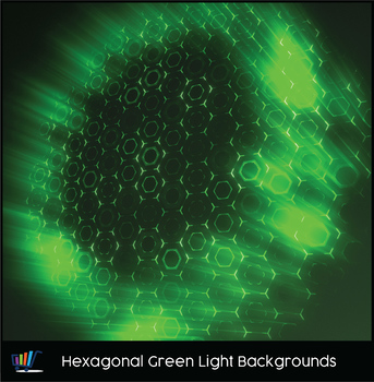 16 Hi-Res Hexagonal Green Light Backgrounds