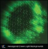 16 Hi-Res Hexagonal Green Light Backgrounds
