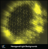 16 Hexagonal Light Backgrounds (Yellow)