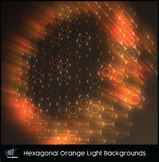 16 Hi-Res Hexagonal Orange Light Backgrounds
