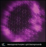 16 Hi-Res Hexagonal Purple Light Backgrounds