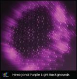 16 Hi-Res Hexagonal Purple Light Backgrounds