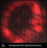 16 Hi-Res Hexagonal Red Light Backgrounds