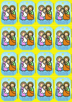 16 Holy Family Flash Cards - Catholic