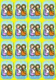 16 Holy Family Flash Cards - Catholic