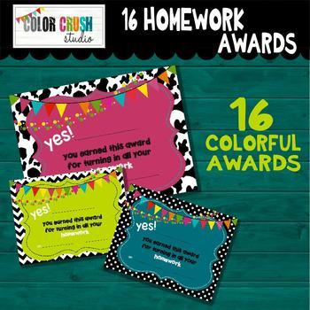 16 Homework Awards