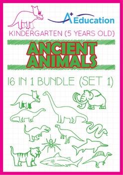 16-IN-1 BUNDLE - Ancient Animals (Set 1) - Kindergarten, K3 (5 years old)