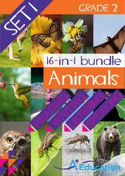 16-IN-1 BUNDLE- Animals (Set 1) - Grade 2
