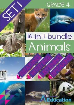 16-IN-1 BUNDLE- Animals (Set 1) - Grade 4