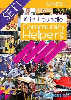 16-IN-1 BUNDLE- Community Helpers (Set 1) – Grade 1