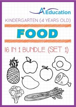 16-IN-1 BUNDLE - Food (Set 1) - Kindergarten, K2 (4 years old)