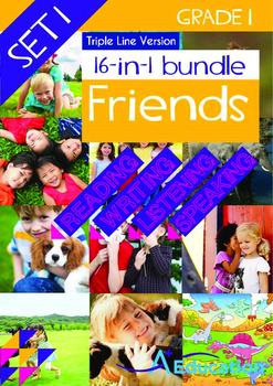16-IN-1 BUNDLE - Friends (Set 1) Grade 1 ('Triple-Track Writing Lines')