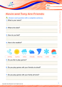 16-IN-1 BUNDLE - Friends (Set 1) Grade 1 ('Triple-Track Writing Lines')