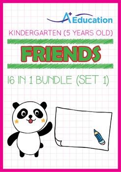 16-IN-1 BUNDLE - Friends (Set 1) - Kindergarten, K3 (5 years old)