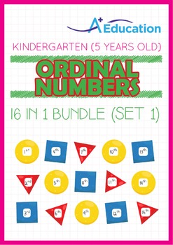 16-IN-1 BUNDLE - Ordinal Numbers (Set 1) - Kindergarten, K3 (5 years old)
