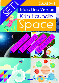 16-IN-1 BUNDLE - Space (Set 1) Grade 1 (with 'Triple-Track Writing Lines')