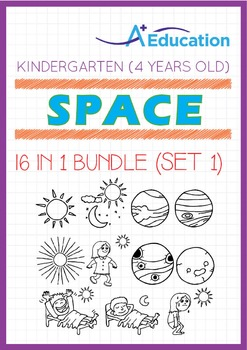 16-IN-1 BUNDLE - Space (Set 1) - Kindergarten, K2 (4 years old)