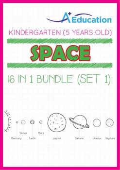 16-IN-1 BUNDLE - Space (Set 1) - Kindergarten, K3 (5 years old)