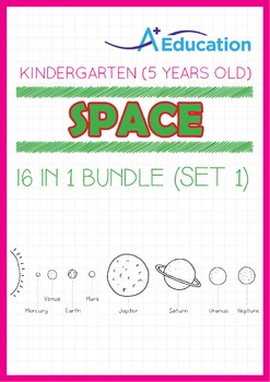 16-IN-1 BUNDLE - Space (Set 1) - Kindergarten, K3 (5 years old)