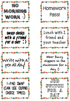 16 Classroom Coupon Rewards-PBIS-Positive Classroom Management