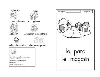 16)J le parc-lemagasin - livret de lecture ENFANT C1 Mat. et 1ère
