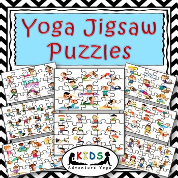 16 yoga jigsaw puzzles  brain break activitykids