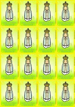 16 Lady of Fatima Flash Cards - Catholic