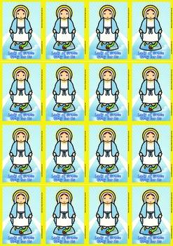 16 Lady of GraceFlash Cards - Catholic
