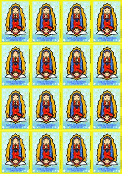 16 Lady of Guadalupe Flash Cards - Catholic