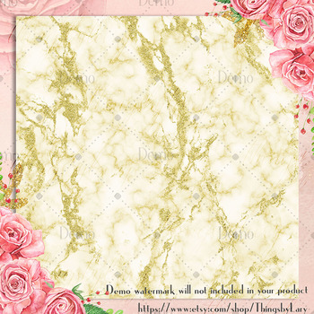 16 Luxury Gold Glitter Marble Texture Digital Papers
