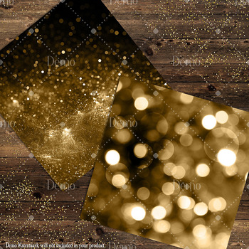 16 Luxury Old Gold Glam Digital Papers