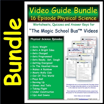 16 bundled worksheets quiz ans for magic school bus physical science. Black Bedroom Furniture Sets. Home Design Ideas