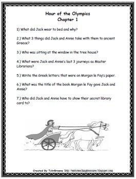 #16 Magic Tree House- Hour of the Olympics Novel Study