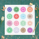 16 Mandalas Clipart, Doily Clipart, Radial Design Clip Art, Abstract Circle