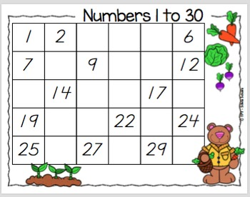 16 Math learning Centers to practice number writing 1 to 30