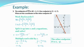 1.6 Midpoint and Distance Formulas on the Coordinate Plane Lesson PowerPoint