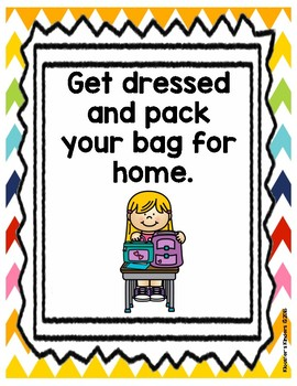 16 Morning Arrival & Afternoon Dismissal Procedure Routine Posters with Pictures