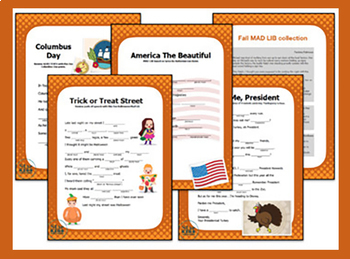*INTERACTIVE* 16 Multi-cultural Fall HolidayMad Libs