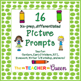 16 No-prep, Differentiated Picture Prompts for Writing