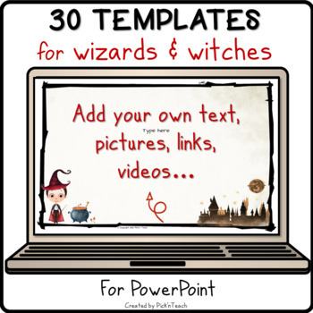 16 Powerpoint Templates For Wizards And Teachers Editable