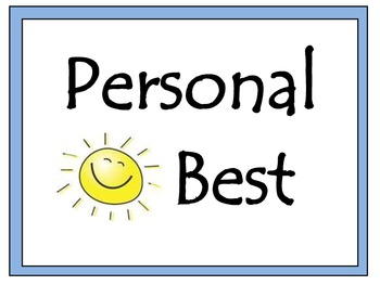 16 Personal Best Posters (Life Skills)