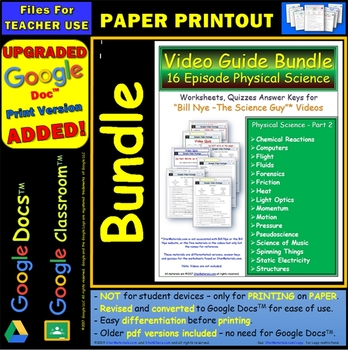 A Differentiated Worksheet Bundle Quiz Ans Bill Nye Physical ...