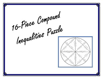 16-Piece Compound Inequalities Puzzle