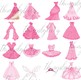16 Pink Princess Dress Gown Fairy Tale Clip Arts Images