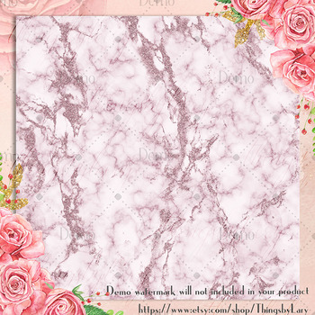 16 Plum Glitter Marble Texture Digital Papers