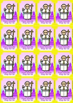 16 Pope Francis Flash Cards - Catholic