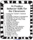 16 Positive Behavior Skills for the Classroom