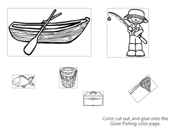 16 Printable Preschool Crafts. Color, Cut, and Glue themed Activity Sheets.