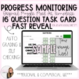 16 Question Fast Reveal Progress Monitoring Task Card Puzz